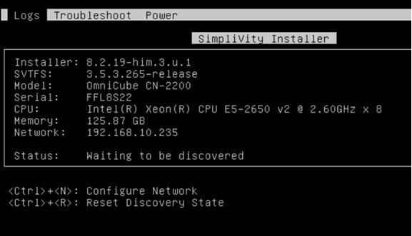 SimpliVity installer